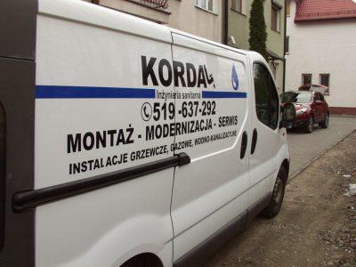 Reklama na samochodzie Kordal