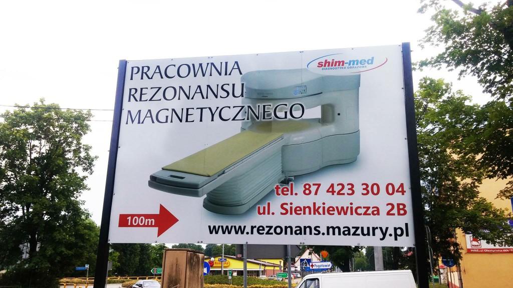 Reklama na konstrukcji billboardowej