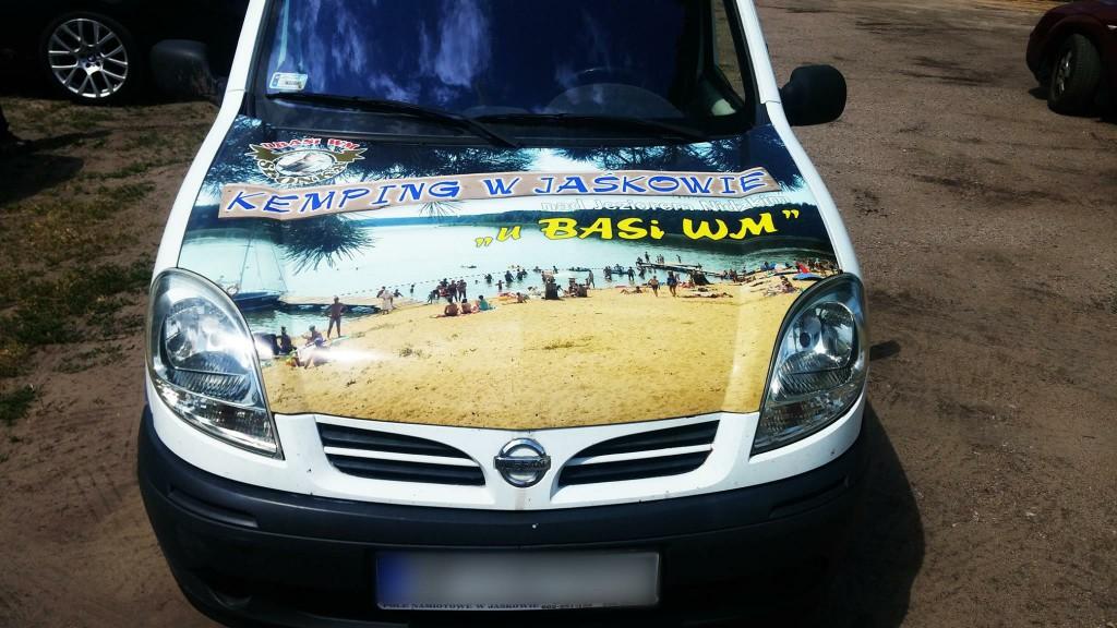 Reklama na samochodzie uBasi WM Jaśkowo