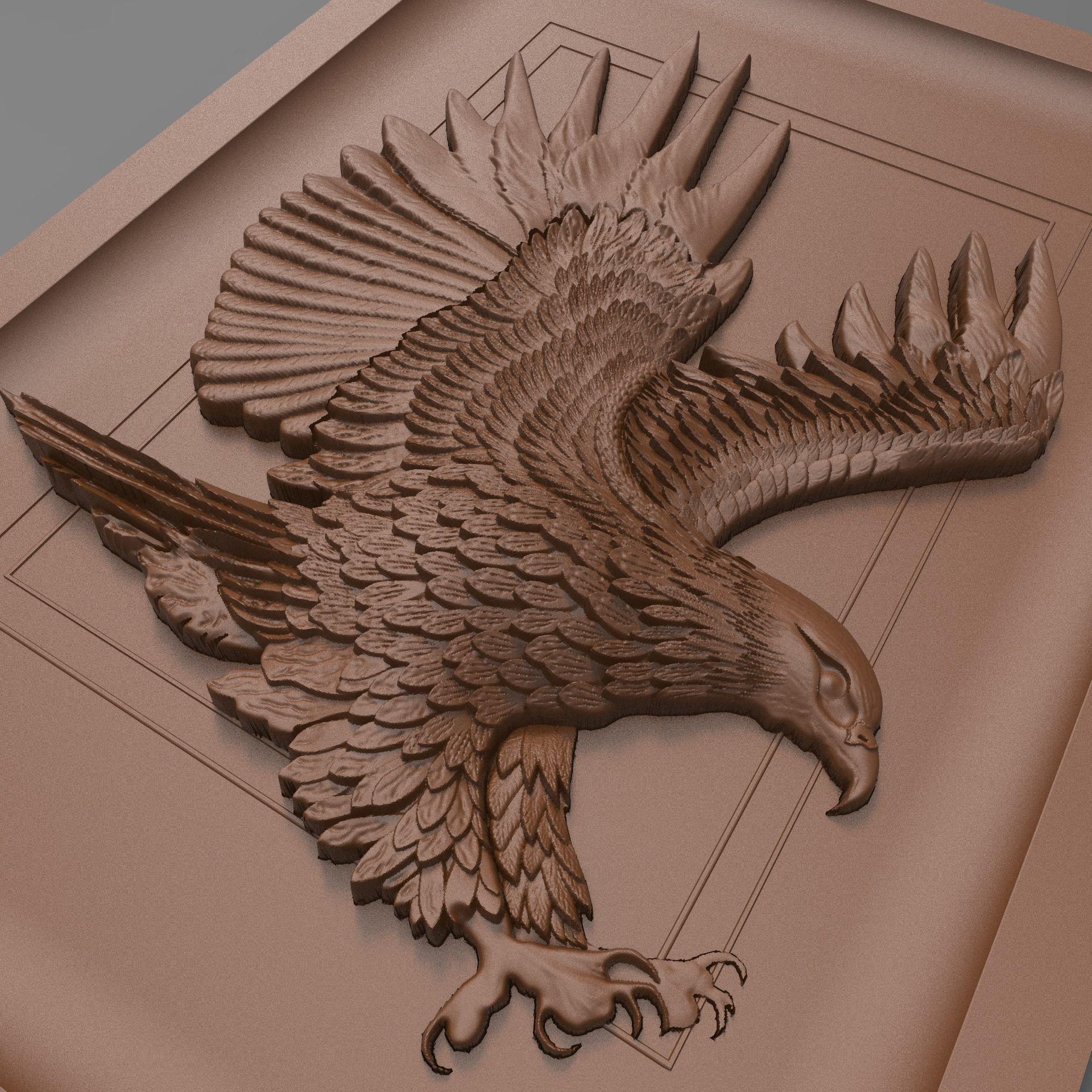 Płaskorzeźba wykonana na frezarce CNC